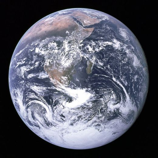 The earth, seen from Apollo